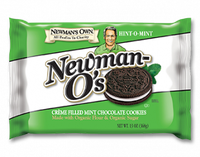 Newman's Own Organics Newman-O's Hint-O-Mint Creme Filled Cookies