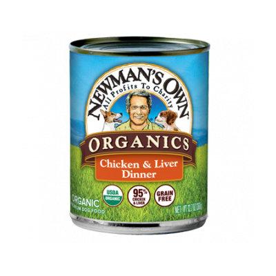 Newman's Own Organics Dogs 95% Chicken & Liver Grain-Free Dinner