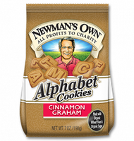 Newman's Own Organics Alphabet Cookies Cinnamon Graham
