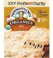 Newman's Own Organic Cheese Thin & Crispy Pizza