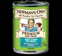 Newman's Own Organics Premium Dog Food Turkey & Brown Rice Formula