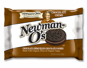 Newman's Own Organics Newman O's Chocolate Creme Filled Chocolate Cookies