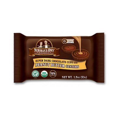 Newman's Own Organics Super Dark Chocolate Cups With Peanut Butter Centers