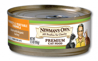 Newman's Own Organics Turkey & Vegetable Formula For Cats