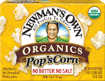 Newman's Own Unsalted Microwave Popcorn