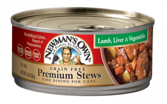 Newman's Own Lamb Liver & Vegetable Stew For Cats