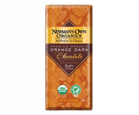 Newman's Own Organic Premium Chocolate Bar Orange Dark 54% Cocoa