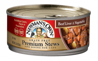 Newman's Own Grain Free Beef Liver & Vegetable Stew For Cats