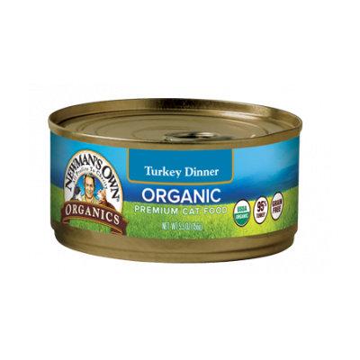 Newman's Own Organics Grain Free Food For Cats Turkey Dinner