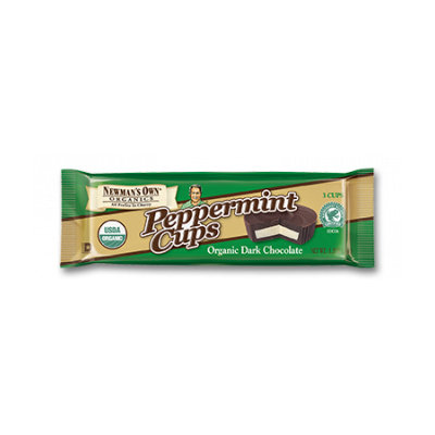 Newman's Own Organics Peppermint Cups Dark Chocolate