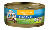 Newman's Own Organics Grain Free Food For Cats Turkey & Liver Dinner