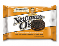 Newman's Own Organics Newman-O's Creme Filled Chocolate Cookies Peanut Butter