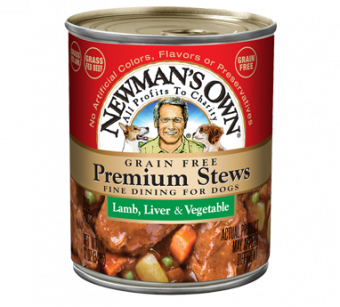 Newman's Own Grain Free Lamb Liver & Vegetable Stew For Dogs