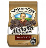 Newman's Own Organics Chocolate Alphabet Cookies
