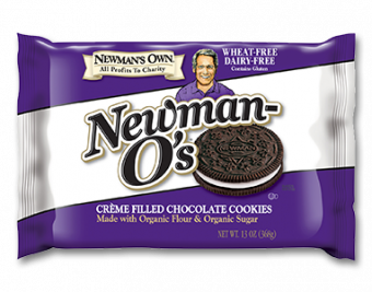 Newman's Own Newman O's Wheat & Dairy-Free Creme Filled Chocolate Cookies