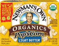 Newman's Own Light Butter Flavor Microwave Popcorn
