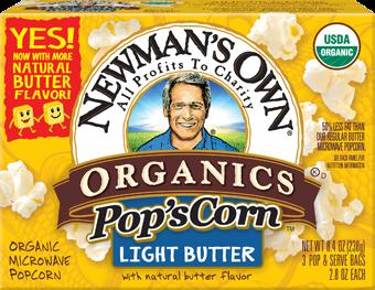 Newman's Own Light Butter Flavor Microwave Popcorn