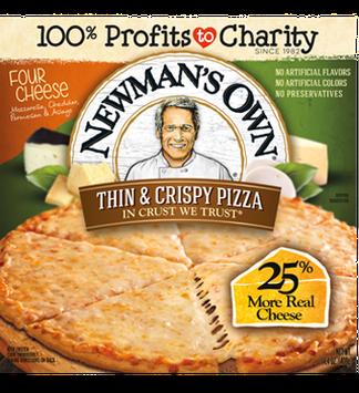 Newman's Own Thin & Crispy Crust Four Cheese Pizza