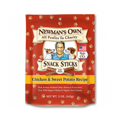 Newman's Own Chicken And Sweet Potato Snack Sticks Dog