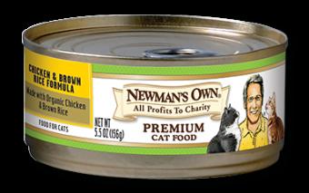 Newman's Own Organics Premium Cat Food Chicken & Brown Rice Formula
