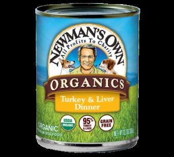 Newman's Own Organics 95% Turkey & Liver Grain Free Dinner For Dogs