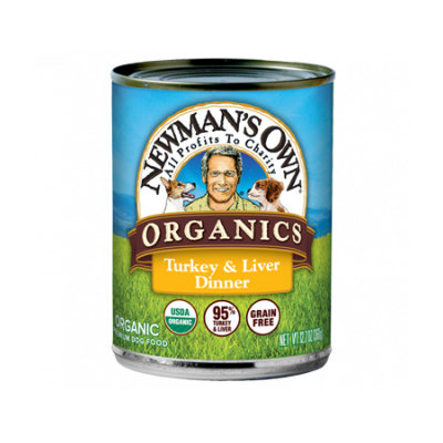 Newman's Own Organics 95% Turkey & Liver Grain Free Dinner For Dogs