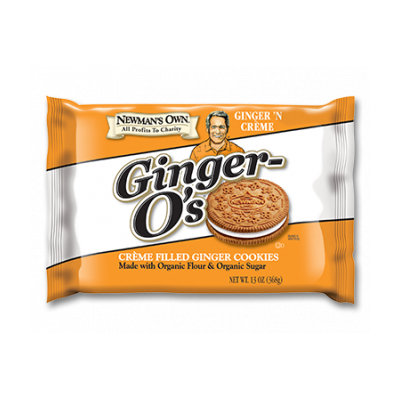 Newman's Own Organics Ginger-O's Creme Filled Ginger Cookies