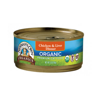 Newman's Own Organics Grain Free Food For Cats Chicken & Liver Dinner