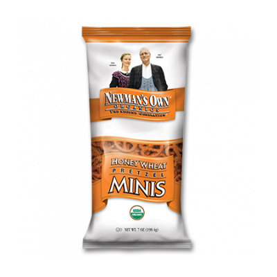 Newman's Own Organics Honey Wheat Pretzel Minis