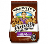 Newman's Own Organics Family Recipe Cookies Oatmeal Chocolate Chip