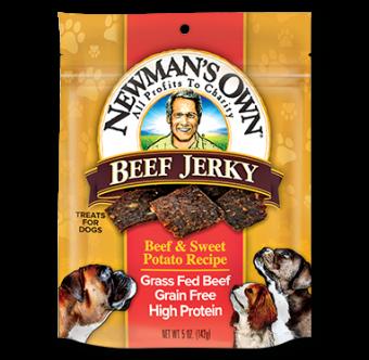Newman's Own Beef & Sweet Potato Recipe Dog Jerky