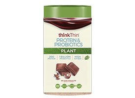 thinkThin Protein & Probiotics Belgian Chocolate Plant Protein (Vegan)