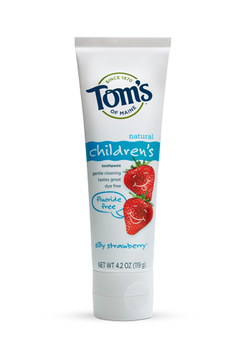 Tom's OF MAINE Silly Strawberry™ Fluoride-Free Children's Toothpaste