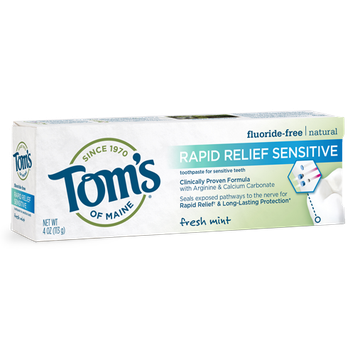 Tom's OF MAINE Fresh Mint Fluoride-Free Rapid Relief Sensitive Toothpaste