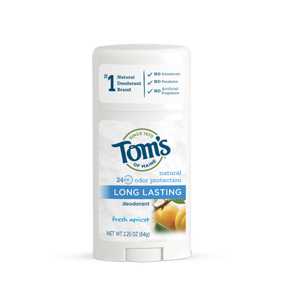Tom's OF MAINE ANTIPERSPIRANT & DEODORANT Fresh Apricot Long Lasting Deodorant