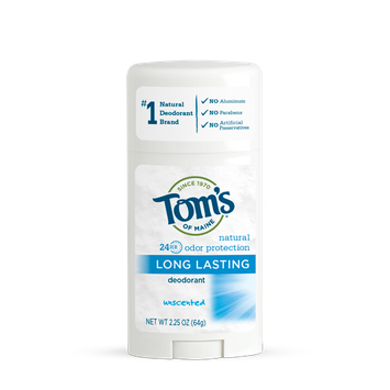 Tom's OF MAINE ANTIPERSPIRANT & DEODORANT Unscented Long Lasting Deodorant