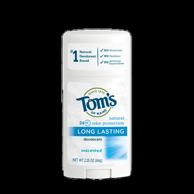 Tom's OF MAINE ANTIPERSPIRANT & DEODORANT Unscented Long Lasting Deodorant