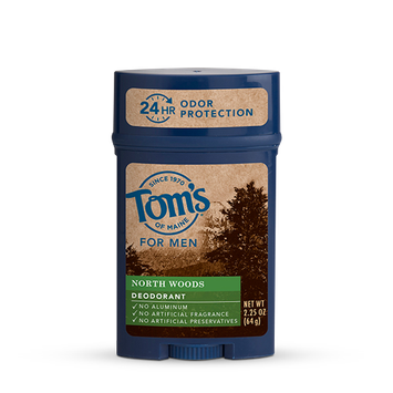 Tom's OF MAINE North Woods Men's Long Lasting Wide Stick Deodorant