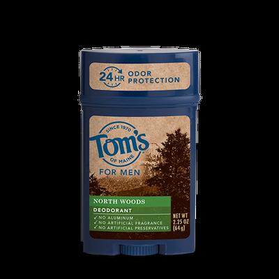 Tom's of Maine North Woods Men's Long Lasting Wide Stick Deodorant