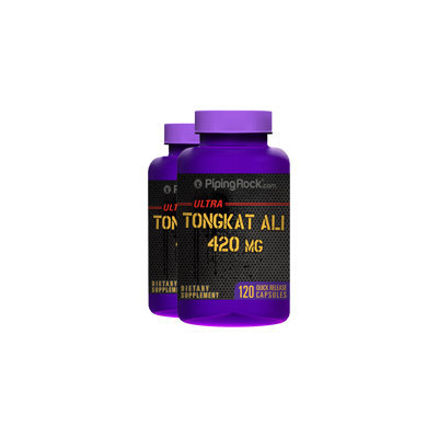 Piping Rock Tongkat Ali Long Jack 420 mg 2 Bottles x 120 Capsules