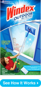 Windex Outdoor All-In One Glass Cleaning Tool