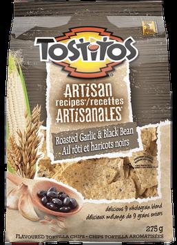 TOSTITOS® ARTISAN RECIPES® Roasted Garlic & Black Bean Tortilla Chips