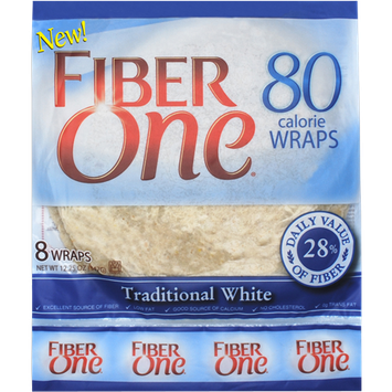 Fiber One 80 Calorie Wraps Traditional White
