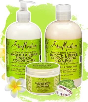 SheaMoisture Tahitian Noni & Monoi Smooth & Repair Hair Care Trio
