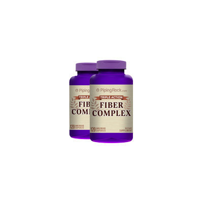 Piping Rock Fiber Complex Triple Action 2 Bottles x 120 Capsules