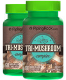 Piping Rock Triple Mushroom Extract Complex 2 Bottles x 60 Capsules