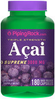 Piping Rock Acai Berry 3000mg 180 Capsules
