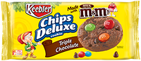 Keebler Chips Deluxe Cookies Triple Chocolate with M&M's