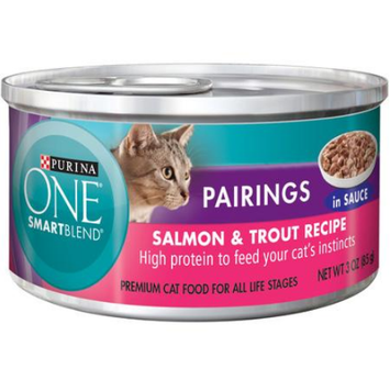 PURINA ONE®  Pairings Salmon & Trout Recipe in Sauce Premium Cat Food