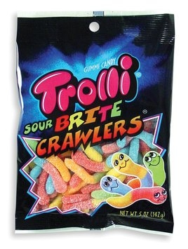 Gummi Worms Sour Gummy Bulk Bag